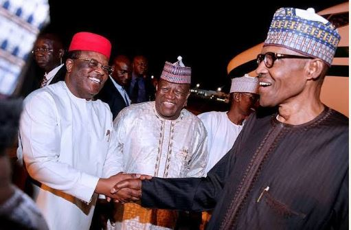 Governor Dave Umahi, and President Muhammadu Buhari