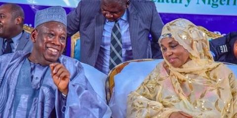 Governor Abdullahi Ganduje of Kano state and his wife