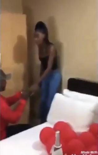 lady faints after proposal