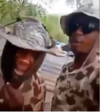 Two soldiers who made the threat
