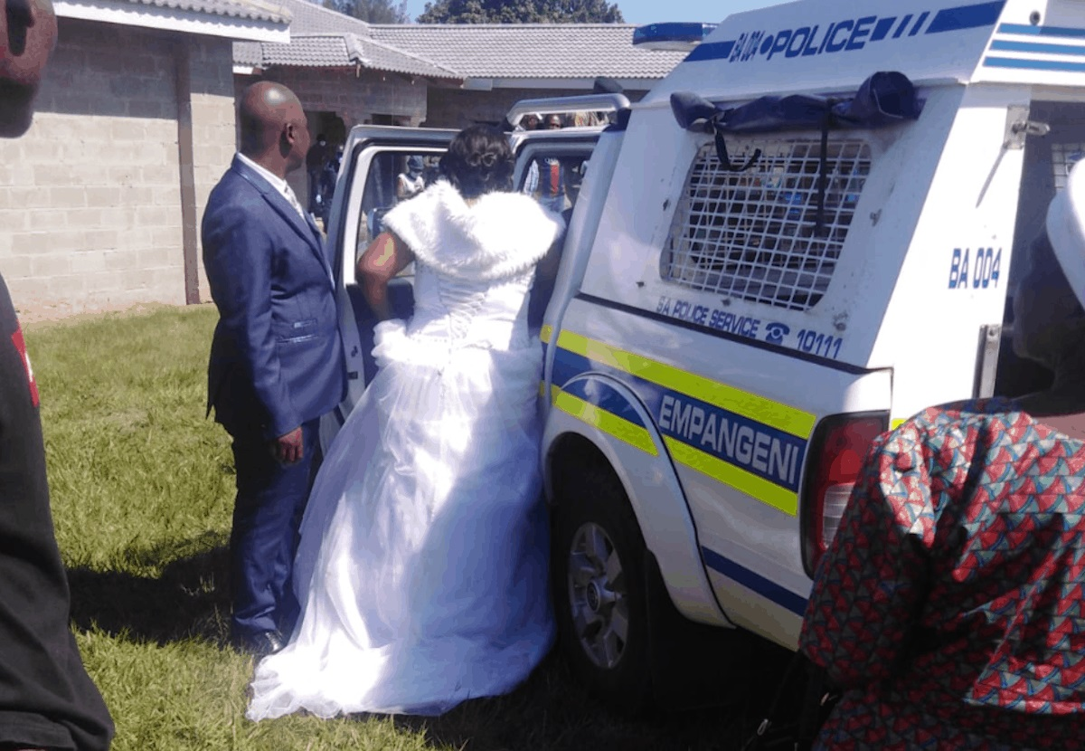 Bride and groom arrested on their wedding day