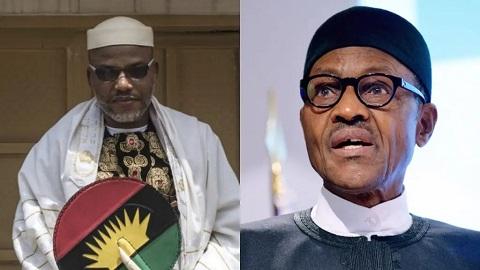 Nnamdi Kanu and Muhammadu Buhari