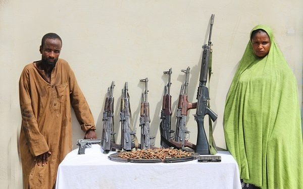 The female armourer and her gang member arrested by the police