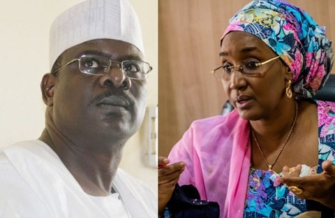 Ali Ndume and Sadiya Umar Farooq