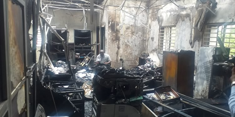 INEC office destroyed by fire today