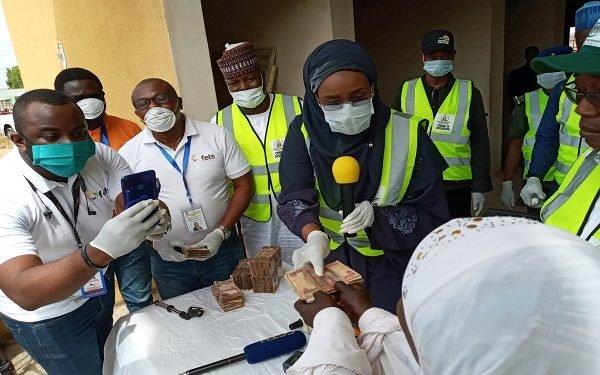 CCT team sharing money to Nigerians