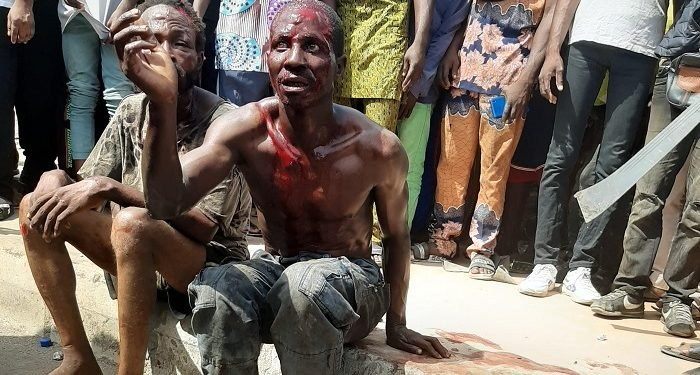 The suspected ritualists after they were arrested