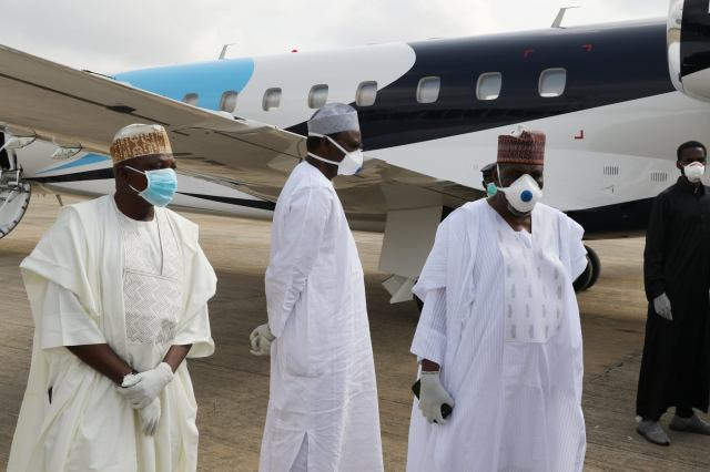 Boss Mustapha and others attended the burial