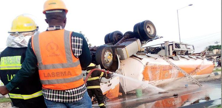 Tanker spills Lagos