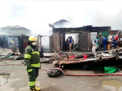 Mushin market fire