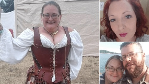 Amy Brown (left) shot dead her friend after catching her in bed with fiance