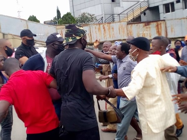 The protesting pensioners beaten in Imo state