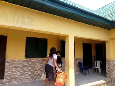 Teachers cleaning classrooms ahead of resumption in Abia state