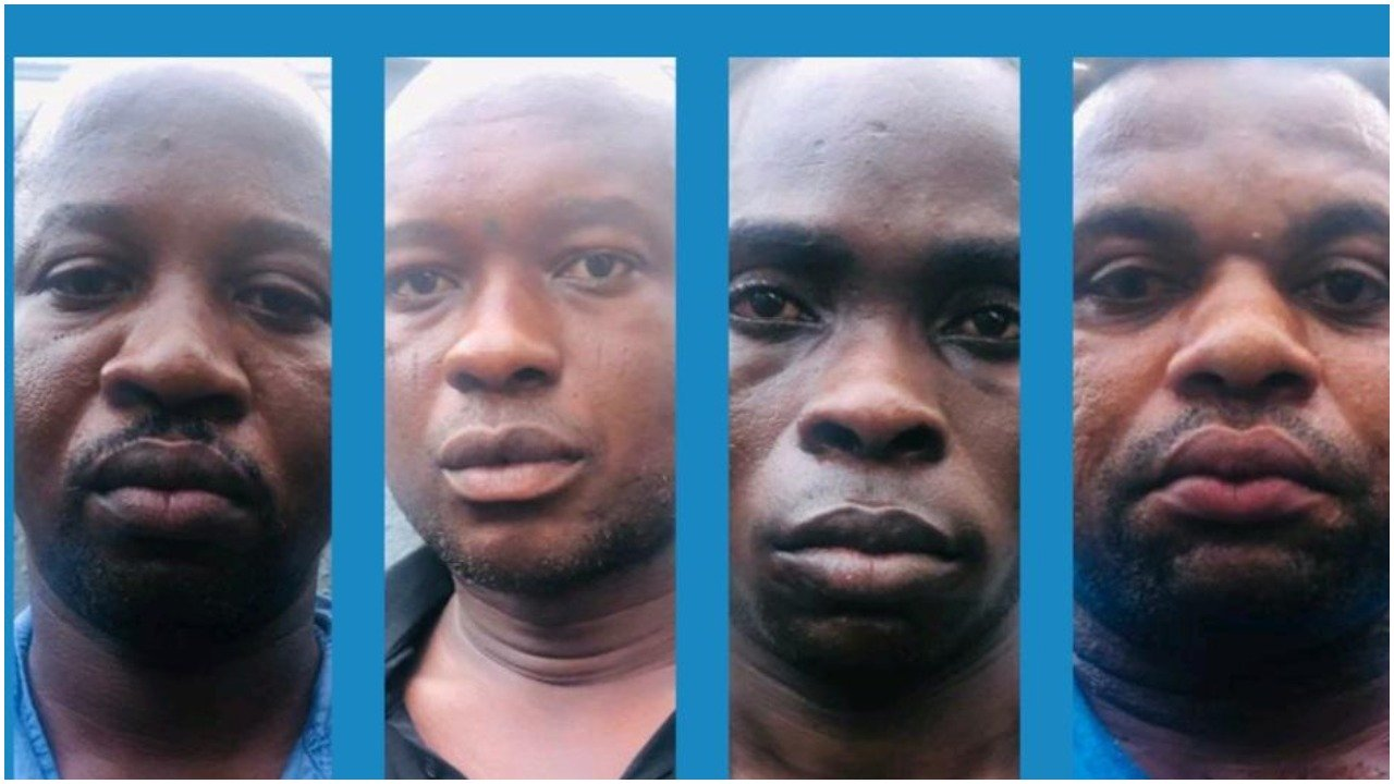 The soldiers were among other robbers nabbed after attacking a bullion van
