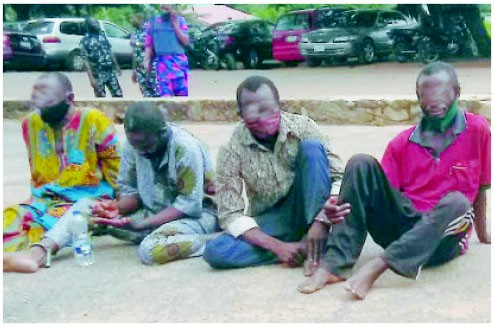 Suspected ritualists after they were caught