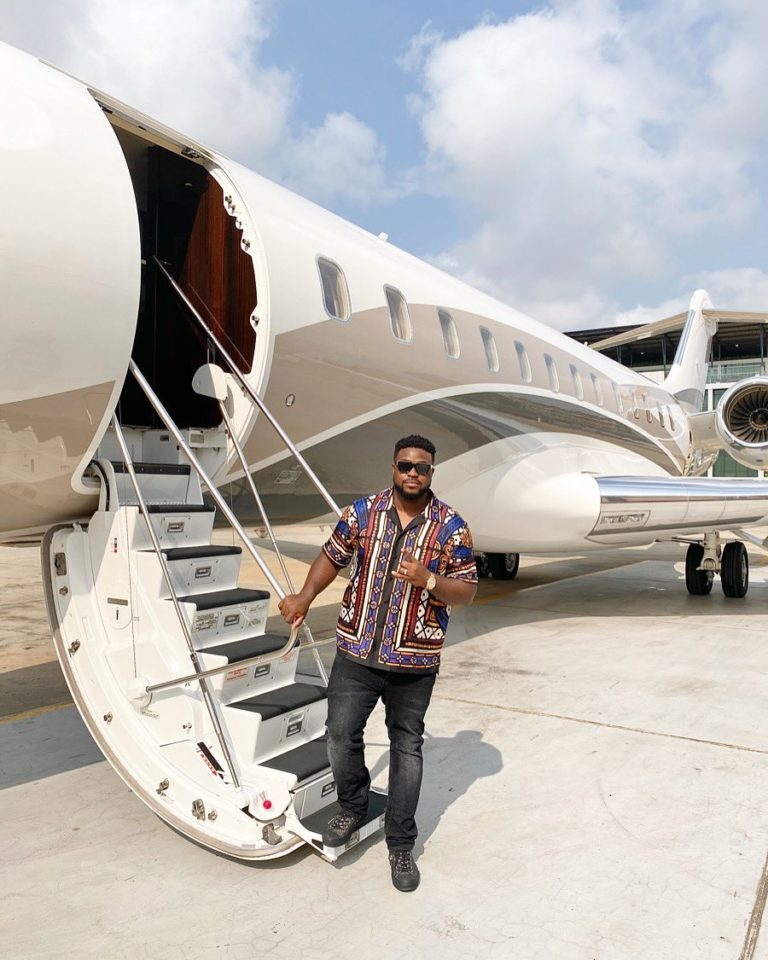 The new jet acquired by Davido's father