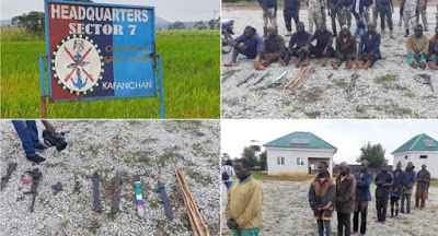 Bandits arrested by the army killing innocent Southern Kaduna community members