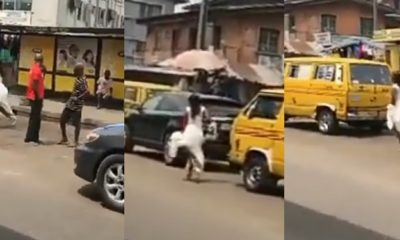 Bride screaming and running in Lagos