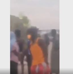 Nigerians cry out after being chased into the desert