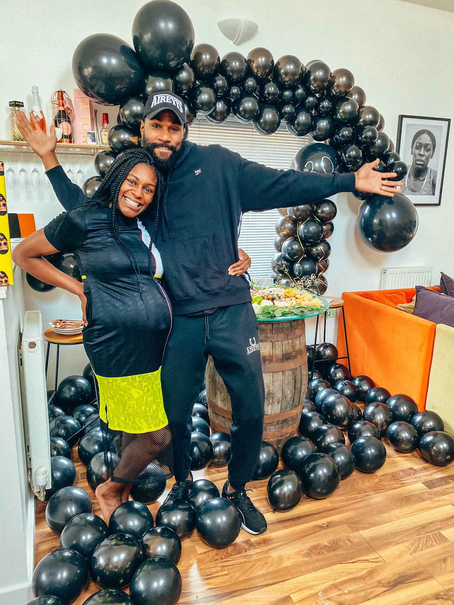 Mike and his wife expecting their baby boy after throwing baby shower party