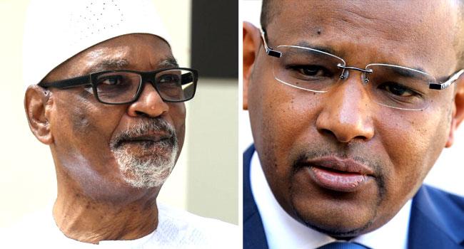 Mali's President Ibrahim Boubacar Keita and Prime Minister Boubou Cisse
