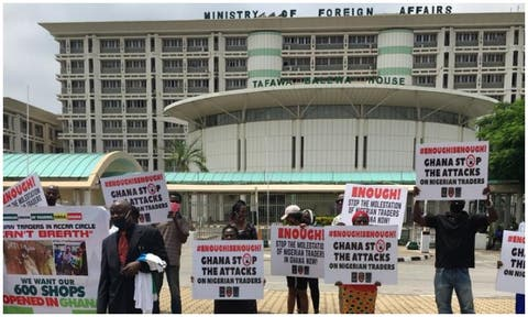 Nigerians have protested illtreatment of their brothers and sisters in Ghana