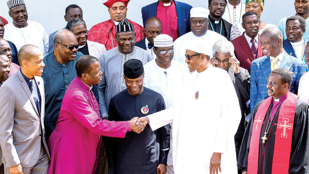 President Muhammadu Buhari and CAN officials