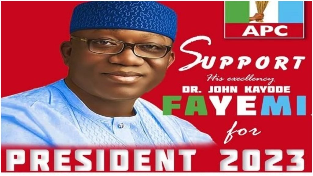 Governor Kayode Fayemi's 2023 Presidential campaign poster