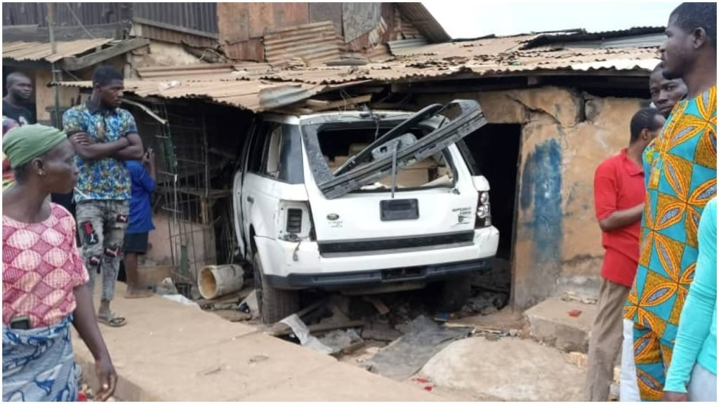 The white SUV killed an only child after ramming into a building