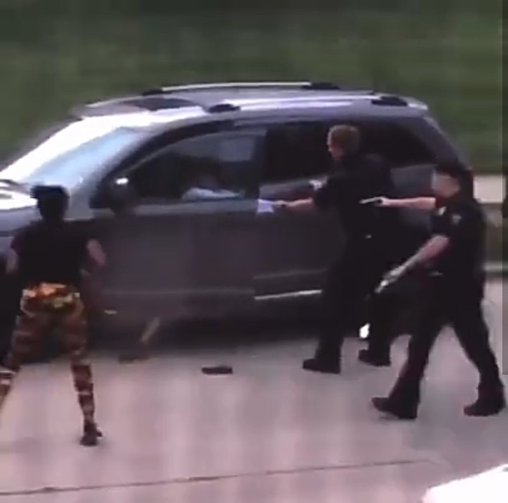 The unarmed black man shot by police