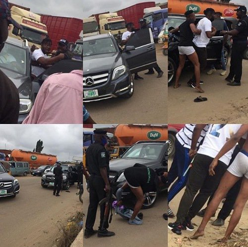 The young men stripped by police officers for driving Benz