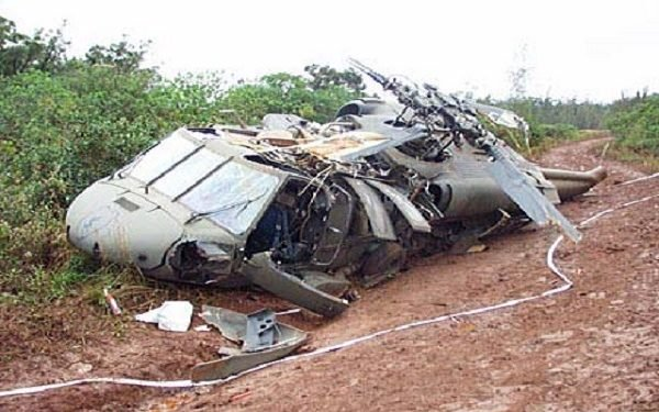 Helicopter crashes in Lagos