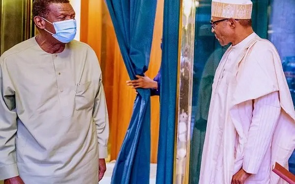 Adeboye and Buhari in Aso rock today