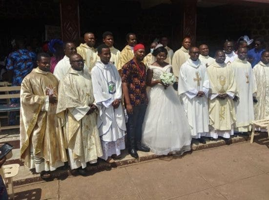 The groom rocked isiagu outfit to his wedding