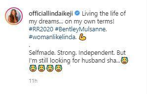 """I'm Still Looking For A Husband' - Billionaire Blogger, Linda Ikeji Says"