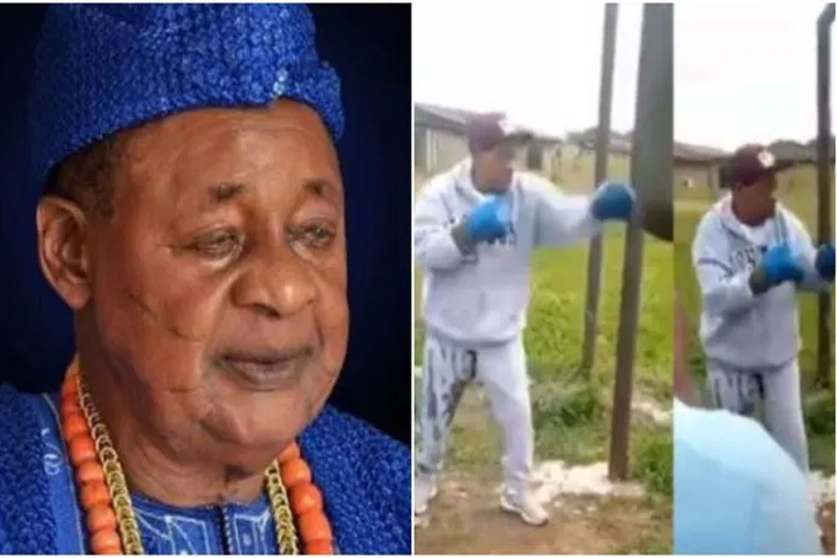 Alaafin Of Oyo exercising to keep body and soul together
