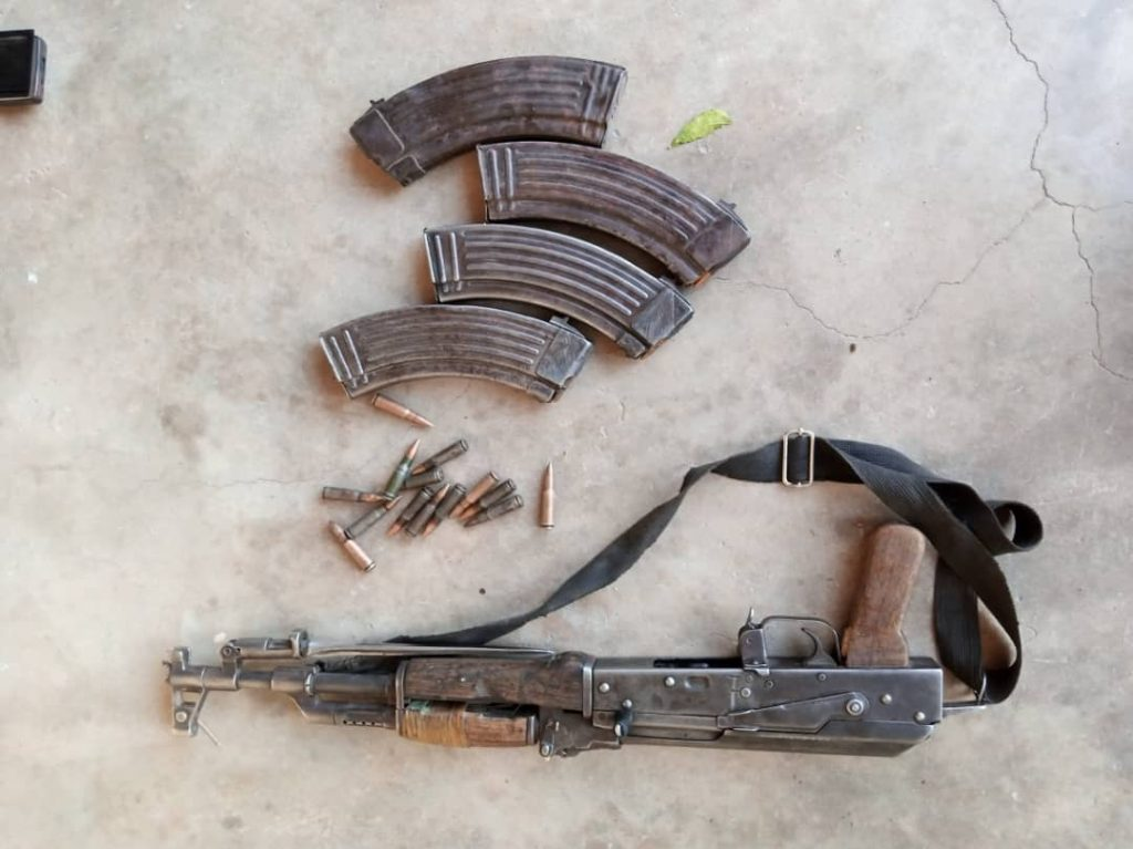 Weapons recovered from the terrorists