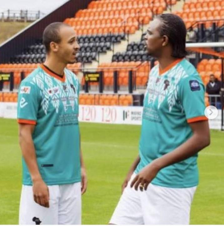 Osaze Odemwingie and Nwankwo Kanu
