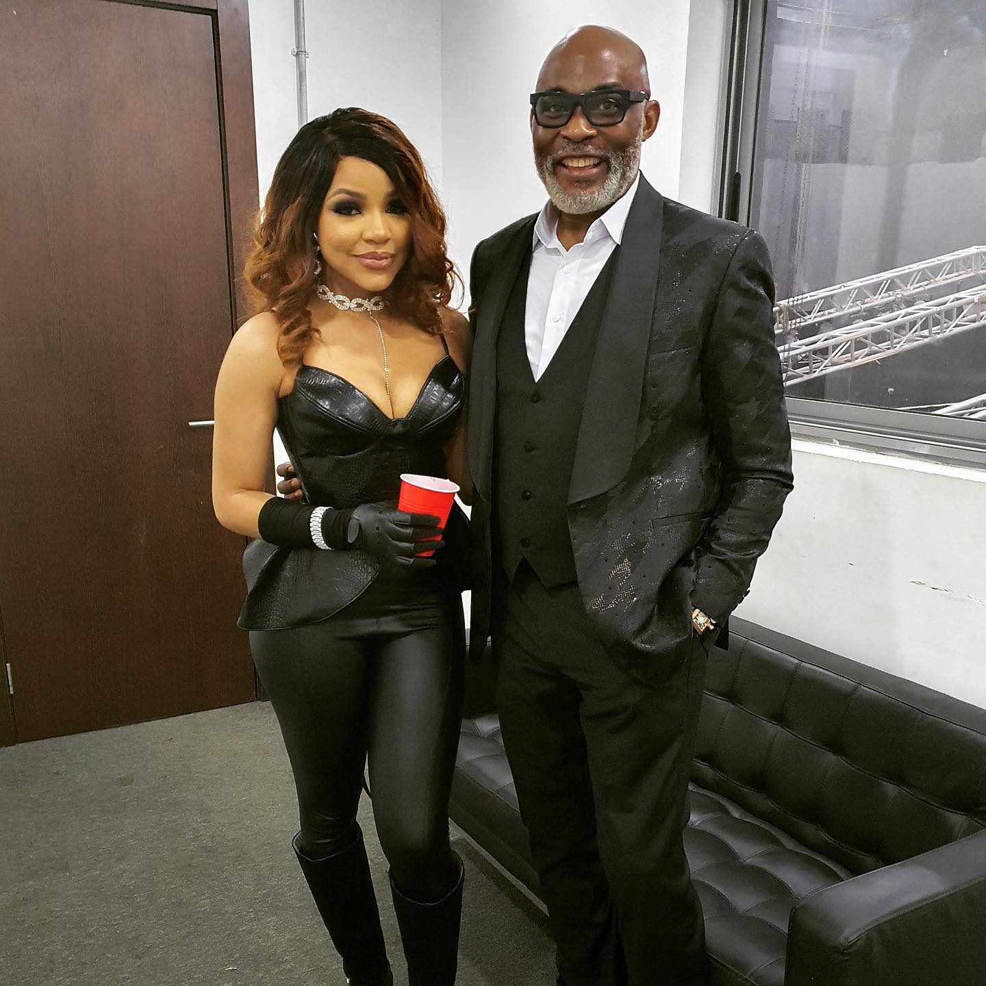 Nengi and RMD on the set of music video 'Jowo'