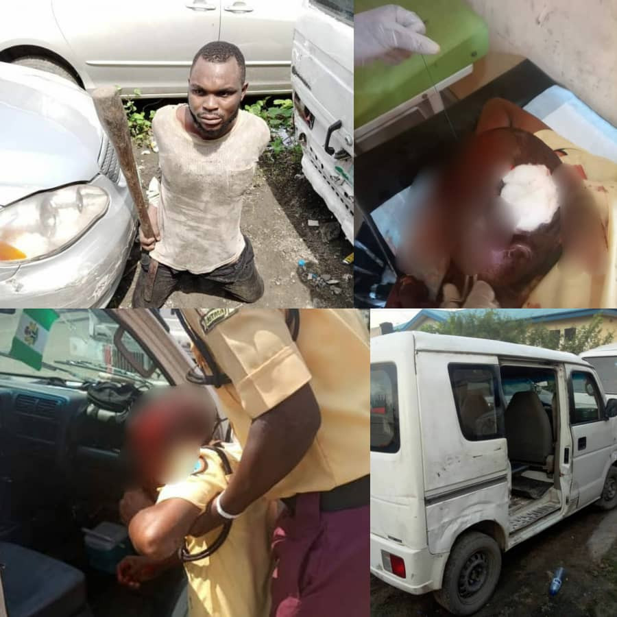 Commercial bus driver arrested for breaking LASTMA officer's head