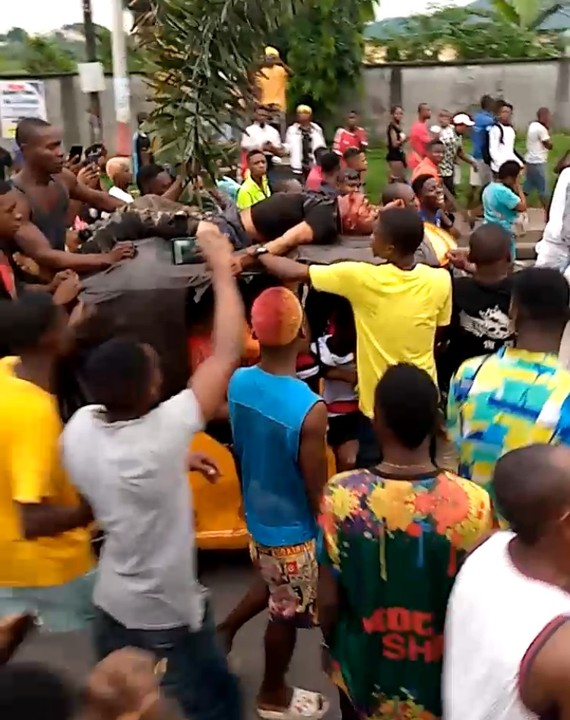 Youths protesting in Rivers over death of Keke Napep driver killed by police