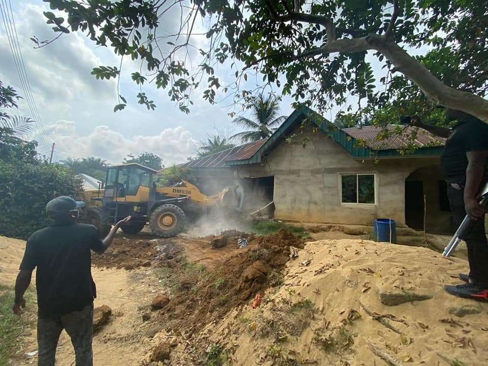 Kidnapper's house demolished