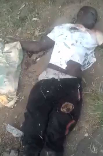 The lynched robber in Ibadan