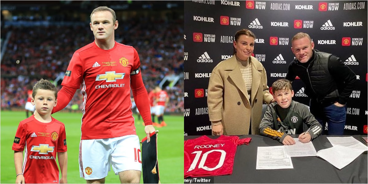 Wayne Rooney's son signs for Manchester United