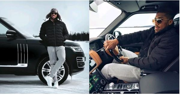 Anthony Joshua shows off his latest ride