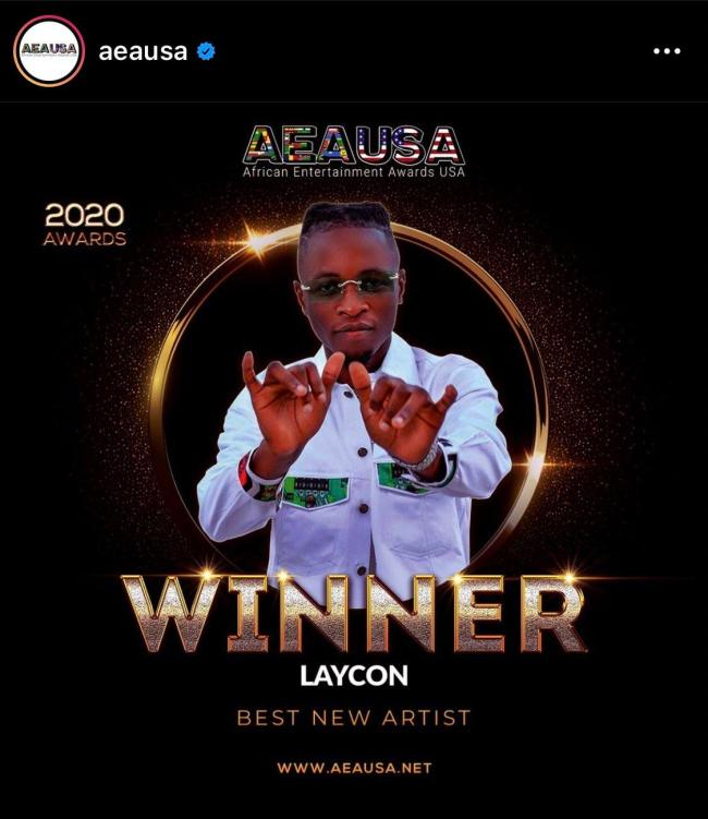 Laycon wins award