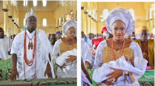 Ooni and wife dedicates their son to God