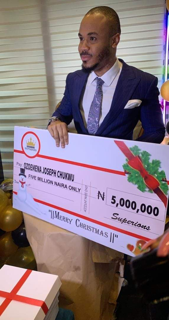 Ozo get N5 million from his fans to celebrate Christmas
