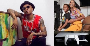 Wizkid buys PS5 for his first son