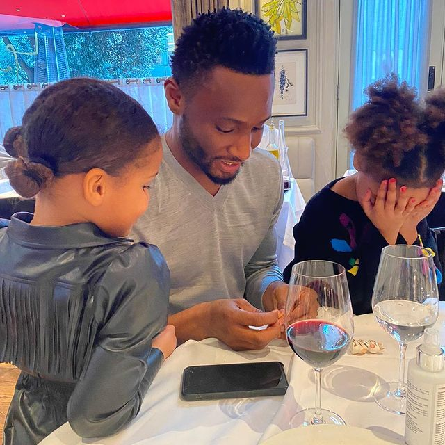 """My World, My Everything"" – Mikel Obi Shares Adorable Photo Of His Lovely Daughters"